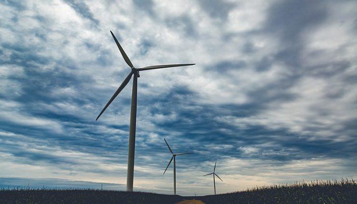 Wind turbines at Pioneer Prairie in Iowa