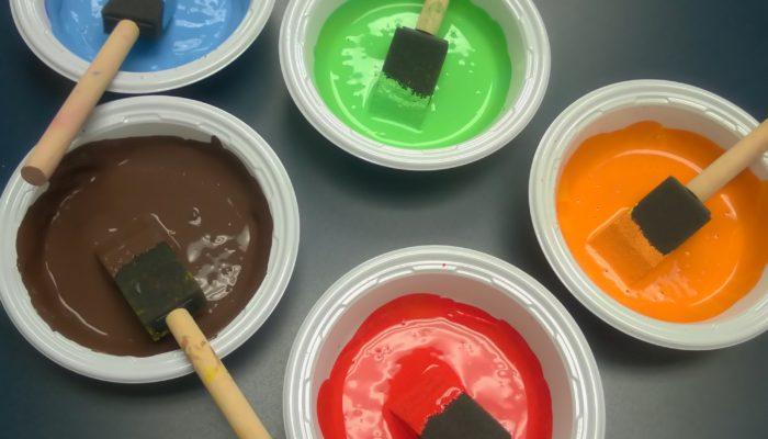 Bowls of paint