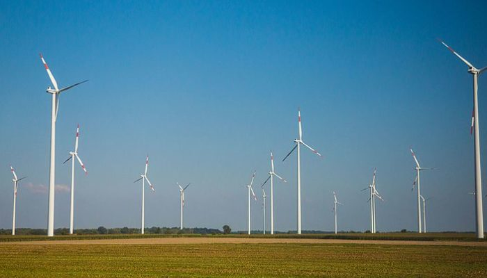 Wind turbines in rural Germany