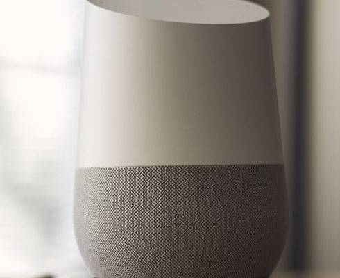 Google Home on table
